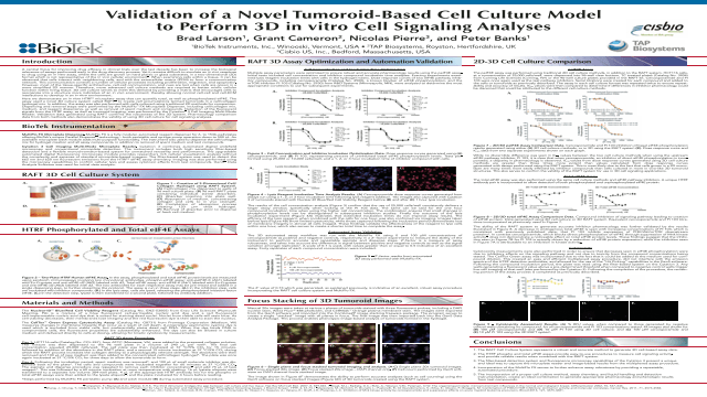 Validation of a Novel Tumoroid-Based Cell Culture Model to Perform 3D in vitro Cell Signaling Analyses