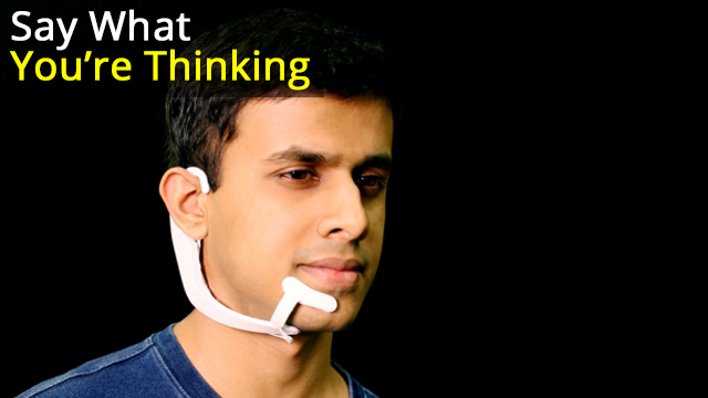 Wearable Device Picks Up on Words You Say In Your Head