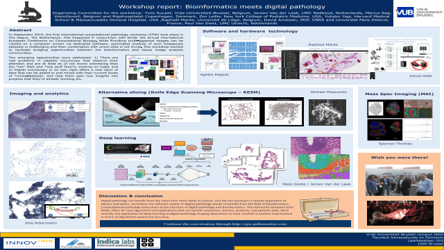 Workshop Report: Bioinformatics Meets Digital Pathology
