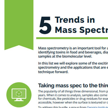 5 Trends in Mass Spectrometry