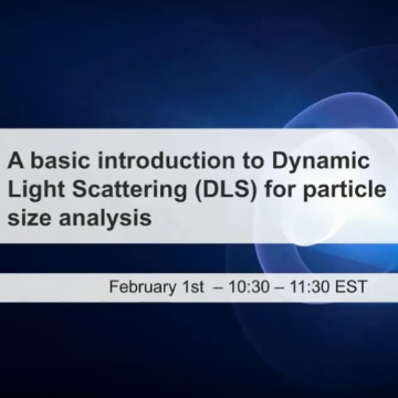 A basic introduction to Dynamic Light Scattering (DLS)