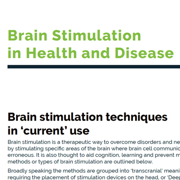 Brain Stimulation in Health and Disease