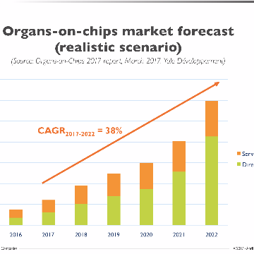 Organs-on-chips: Small Market and Gigantic Promise