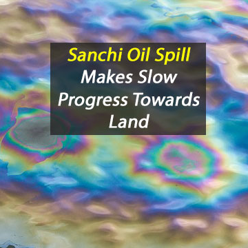 Sanchi Oil Spill Contamination Could Take Three Months to Reach Mainland